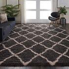 Woo Geometric Charcoal Gray/Beige Area Rug Rug Size: Rectangle 8'2
