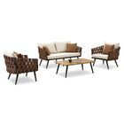 Blosser 4 Piece Sofa Set with Cushions