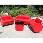 4 Piece Sofa Set with Cushions