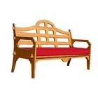 Burliegh Patio Sofa with Cushion Fabric: Red