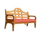 Burliegh Patio Sofa with Cushion Fabric: Red/White