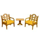 Burliegh 3 Piece Conversation Set  with Cushions Fabric: Yellow