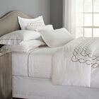 Eternal 120 GSM Microfiber Luxury 800 Thread Count Sheet Set Size: Queen, Color: White/Tan