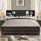 Loiret Wood Storage Platform Bed Size: King