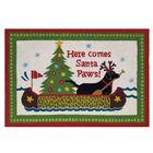 Santa Paws Hand Hooked Wool Green Area Rug
