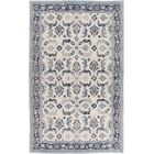 Heerhugowaard Hand-Knotted Blue/Gray Area Rug Rug Size: Rectangle 2' x 3'