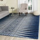 Elson Royal/Ivory Area Rug Rug Size: Rectangle 6'7