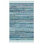 Nerys Hand-Woven Cotton Turquoise Area Rug Rug Size: Rectangle 8' x 10'