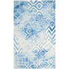 Dip Dye Hand-Tufted Blue/Ivory Area Rug Rug Size: Rectangle 6' x 9'