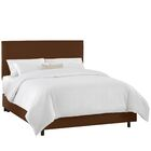 Dodson Upholstered Panel Bed Color: Duck Chocolate, Size: California King