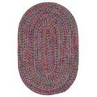 Huntington Hand-Woven Pink/Green Area Rug Rug Size: Oval 5' x 8'