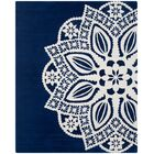 Archer Hand-Tufted Navy / Ivory Area Rug Rug Size: Rectangle 8' x 10'