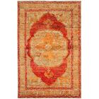Artesia Hand-Knotted Red Orange / Beige Area Rug Rug Size: Rectangle 4' x 6'
