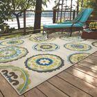 Capri Beige/Green Indoor/Outdoor Area Rug Rug Size: Rectangle 6'7