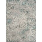 Lulu Gray/Light Blue Area Rug Rug Size: Rectangle 8' x 10'