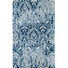 Lucy Hand-Hooked Blue/White Area Rug Rug Size: Rectangle 3'6