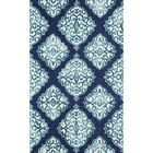 Lucy Hand-Hooked Navy/White Area Rug Rug Size: Rectangle 8' x 10'