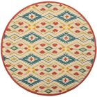 Puri Yellow and Blue Outdoor/Indoor Area Rug Rug Size: Square 6'