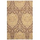 Saint-Paul Brown / Gold Area Rug Rug Size: Rectangle 6' x 9'