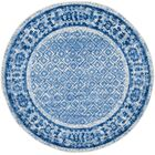 North Brookfield Silver & Blue Area Rug Rug Size: Round 6'