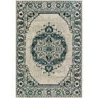Puran Gray/Blue Area Rug Rug Size: Rectangle 5'3