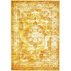 Brandt Yellow/Orange Area Rug Rug Size: Runner 3'3