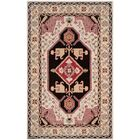 Blokzijl Hand-Tufted Beige/Black Area Rug Rug Size: Rectangle 5' x 8'