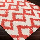 Faith Poppy Red/Winter White Ikat Area Rug Rug Size: Rectangle 5' x 8'