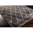 Evelyn Hand-Woven Pewter Shag Area Rug Rug Size: Rectangle 8' x 10'