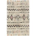 Hylton Hand-Knotted Neutral/Black Area Rug Rug Size: Rectangle 4' x 6'