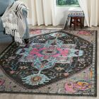 Bunn Light Gray/Blue/Pink Area Rug Rug Size: Rectangle 4' x 6'