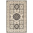 Maffei Hand-Knotted Ivory/Gray Area Rug Rug Size: Rectangle 4' x 6'