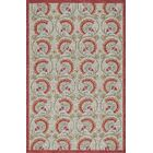 Indigo Hand-Woven Red/Beige Area Rug Rug Size: Rectangle 5' x 7'6