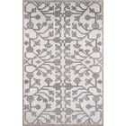 Zoey Hand-Knotted Ivory/Gray Area Rug Rug Size: Rectangle 8' x 11'