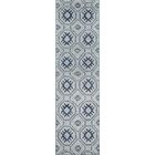 Zoey Hand-Knotted Blue/Gray Area Rug Rug Size: Runner 2'3