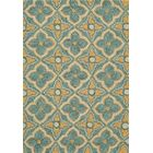 Indigo Hand-Woven Gold Area Rug Rug Size: Rectangle 3'6