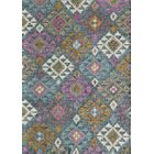 Marianne Hand-Woven Blue/White Area Rug Rug Size: Rectangle 7'6