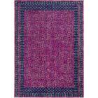 Arabi Oriental Pink/Blue Area Rug Rug Size: Rectangle 5'3