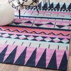 Simonds Flat Woven Pink/Black/Blue Area Rug Rug Size: Rectangle 4' x 6'
