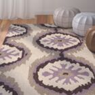 Puri Beige/Purple Outdoor Area Rug Rug Size: Rectangle 3'6
