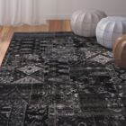 Ulibarri Black/Brown Area Rug Rug Size: Rectangle 7'10