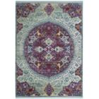 Justine Purple/Green Area Rug Rug Size: Runner 3' x 10'