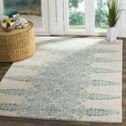 Elson Ivory/Teal Area Rug Rug Size: Rectangle 9' x 12'