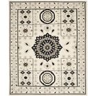 Maffei Hand-Knotted Ivory/Gray Area Rug Rug Size: Rectangle 9' x 12'