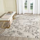 Spence Charcoal / Cream Area Rug Rug Size: Rectangle 3' x 5'