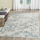 Spence Blue/Creme Area Rug Rug Size: Rectangle 4' x 6'