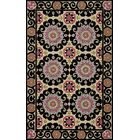 Roeser Black Area Rug Rug Size: Rectangle 5' x 8'