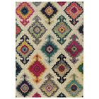 Terrell Tribal Ivory/Multi Area Rug Rug Size: Rectangle 6'7