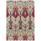 Terrell Ivory & Red Area Rug Rug Size: Rectangle 4' x 5'9