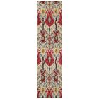 Terrell Ivory & Red Area Rug Rug Size: Runner 2'7